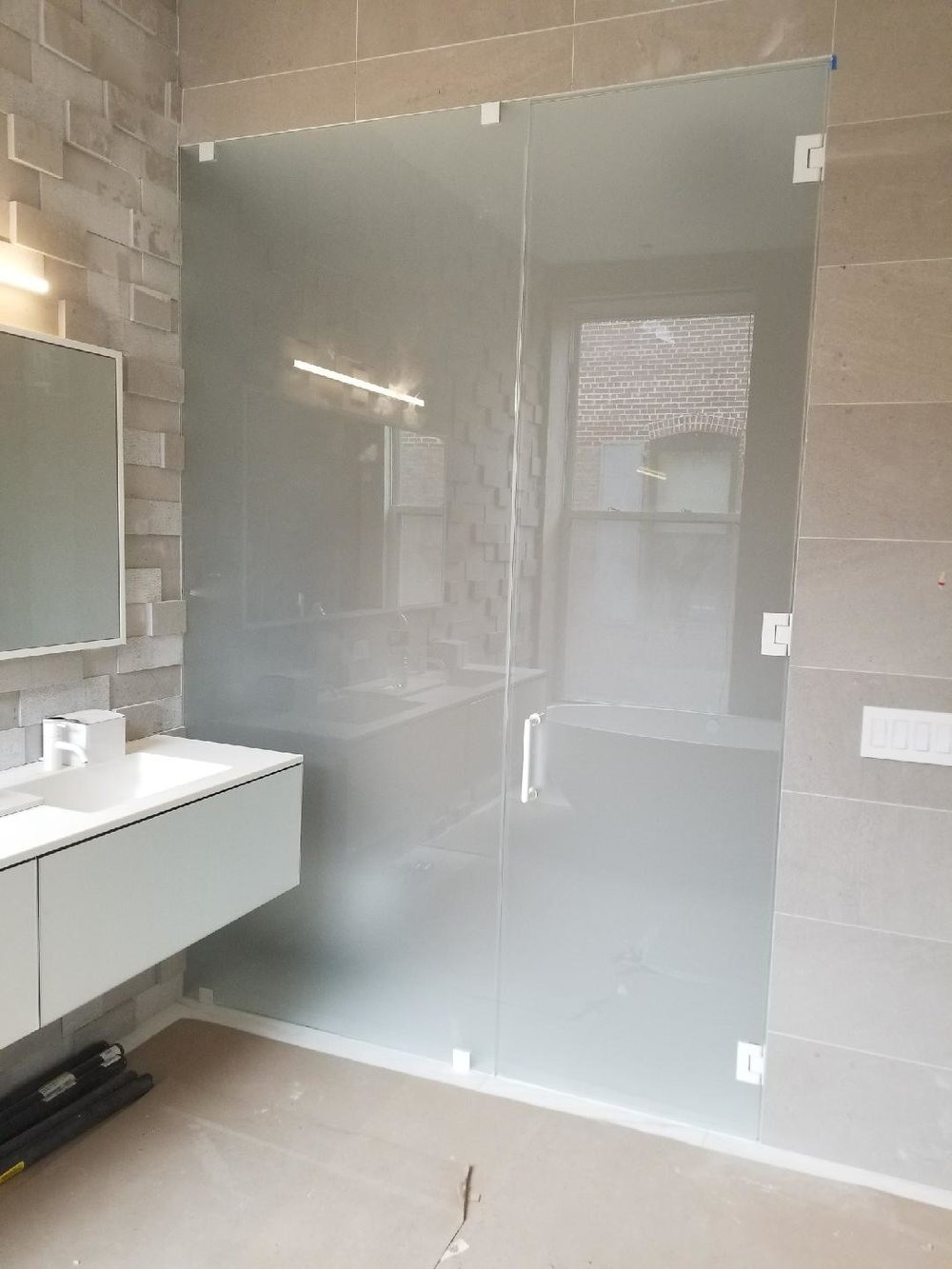 Sliding Glass Panel Shower Doors