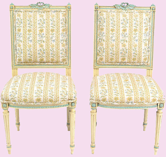 ONE KINGS LANE VINTAGE // 19TH-C. FRENCH  LOUIS-XVI CHAIRS