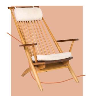 THE REALREAL  // DANISH LOUNGE CHAIR