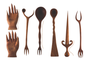 ARTECNICA //  7-PIECE TORD BOONTJE WITCHES' KITCHEN SERVING UTENSILS