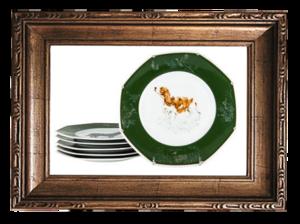 HERMES // CHIENS COURANTS & CHIENS D'ARRET DINNER PLATES