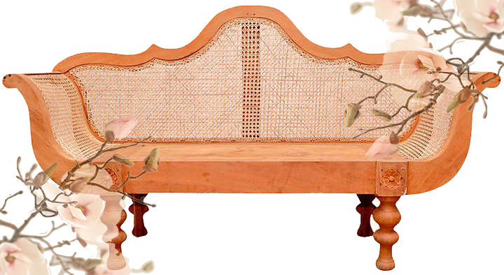 ONE KINGS LANE  // VINTAGE BRITISH COLONIAL PLANTATION BENCH