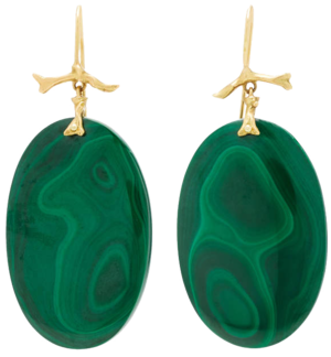 ANNETTE FERDINANDSEN  // ONE-OF-A-KIND MALACHITE CORAL BRANCH EARRING
