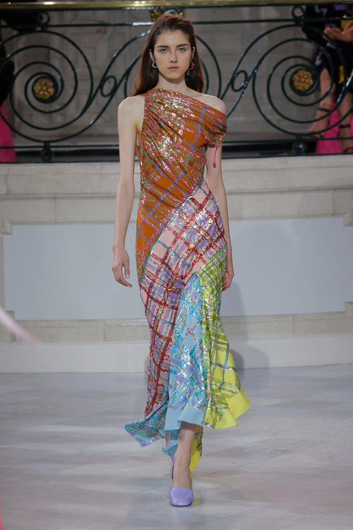 PETER PILOTTO  // SEQUIN CHECK GOWN