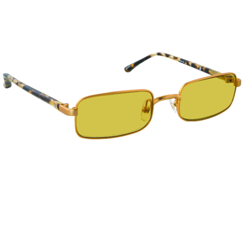 DRIES VAN NOTEN  // GOLD LINDA FARROW EDITION 139 C3 SUNGLASSES