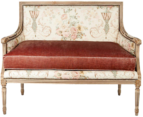 ONE KINGS LANE VINTAGE  // FRENCH SETTEE WITH DOWN CUSHION