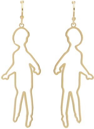 SIMONE ROCHA // GOLD DOLL EARRINGS
