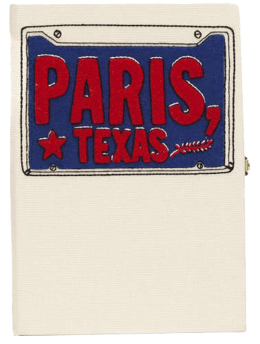 OLYMPIA LE-TAN //(PARIS, TEXAS) BOOK CLUTCH - WHITE