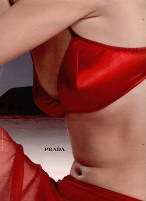 Angela Lindval for Prada FW 1998  by Norbert Schoerner