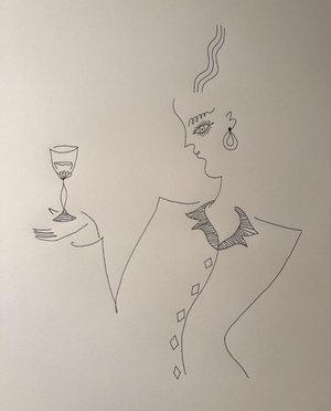 Drawing   by Blanca Miró Skoudy