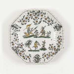 Plate (France), ca. 1763   via Cooper Hewitt Design Museum