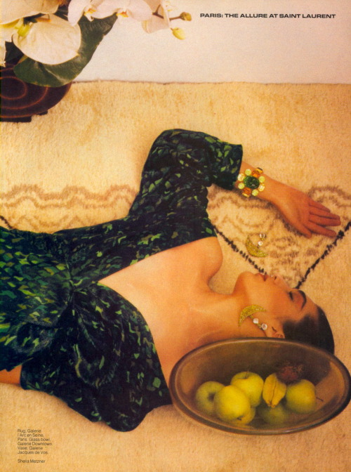 At it's Most Alluring   by Shelia Metzner for Vogue US April 1984