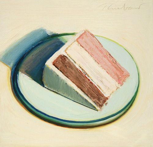 Cake Slice   by Wayne Thiebaud, 1979