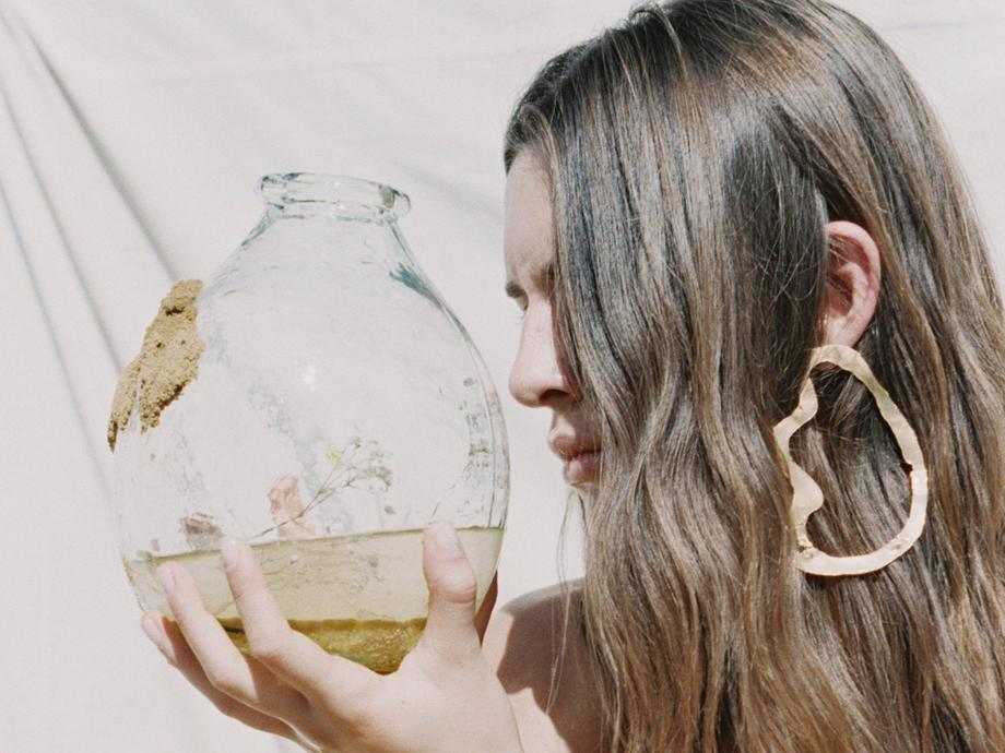 ALIGHIERI  // THE FRACTURED CLOUD GOLD-PLATED EARRING
