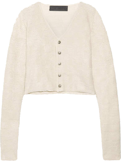 THE ELDER STATESMAN    // CROPPED CASHMERE CARDIGAN