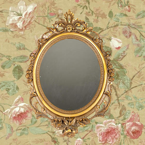ONE KINGS LANE VINTAGE  // 19TH-C. GOLD GESSO MIRROR