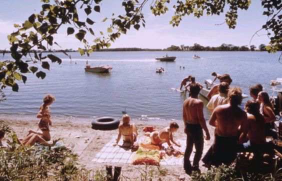 A day by the lake, 1970's