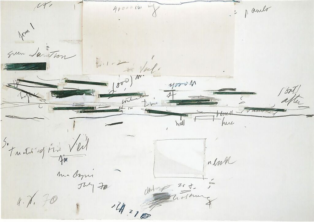 Cy Twombly, Stydy for Treatise of the Veil, 1970