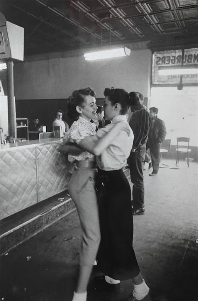Friends dancing, 1955