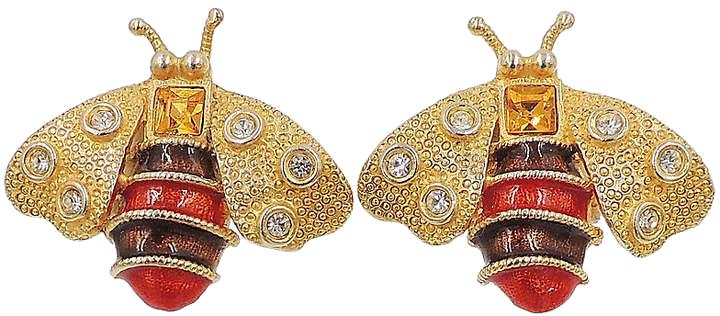 ONE KINGS LANE VINTAGE  // YOSCA BEE EARRINGS