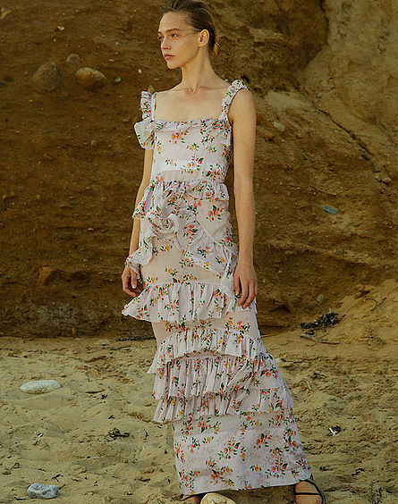 BROCK COLLECTION  // DARWIN FLORAL-PRINT COTTON-VOILE DRESS
