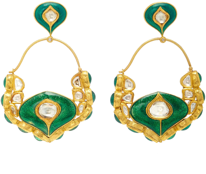 AMRAPALI  // ONE-OF-A-KIND DIAMOND AND EMERALD DROP EARRINGS