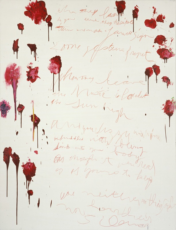 Cy Twombly, Coronation of Sesostris, 2000