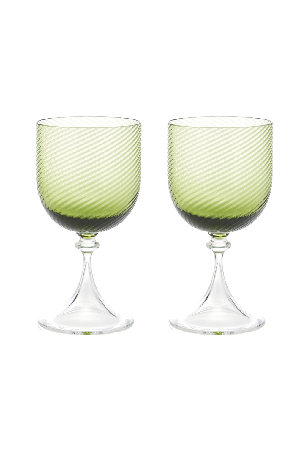CABANA  // M'O EXCLUSIVE BAILO SPIRAL WINE GLASS SET OF 2