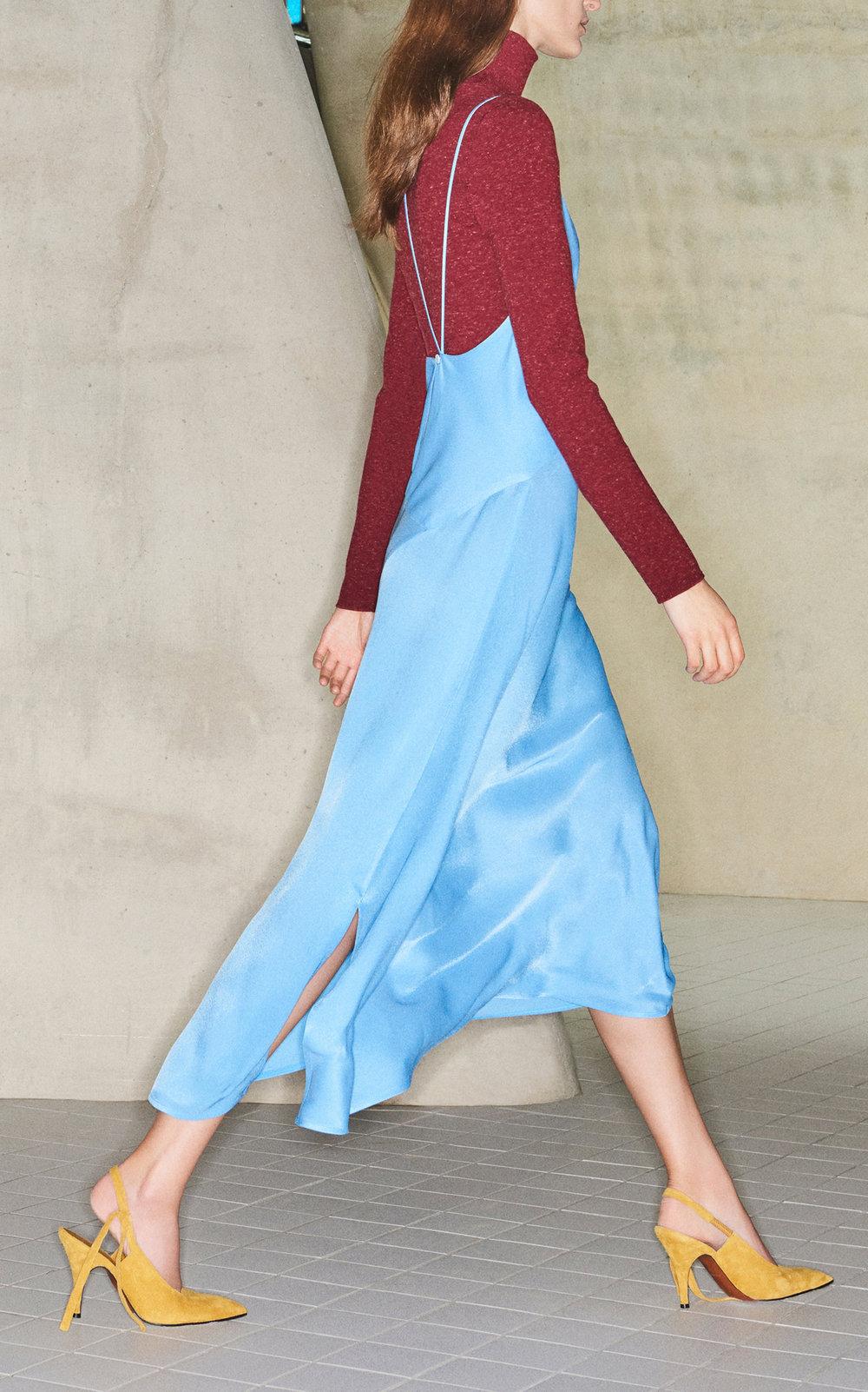 VICTORIA BECKHAM  // V-NECK DRAPE DRESS
