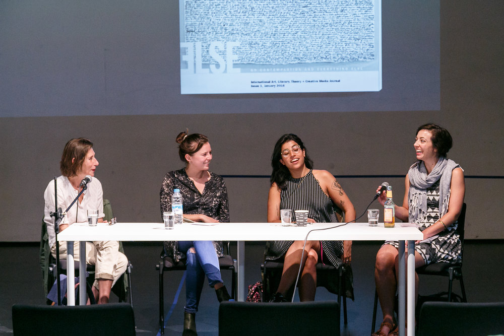 Ruth Novaczek, Rachel Dedman, Gaby Cepeda & Andrea Spaziani, Transart Triennale 2016 Symposium panel discussion: Flux and Becoming: Identity, Self, Love, Other