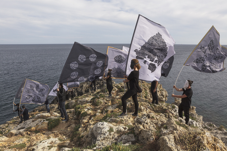 Andreco, Parade for the Landscape, Video, Flags, 2014