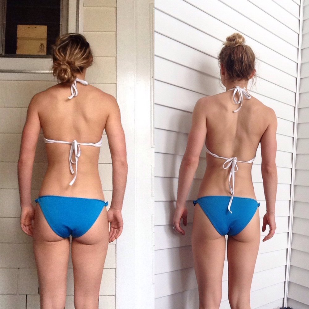 Back progress. Thin and Fit