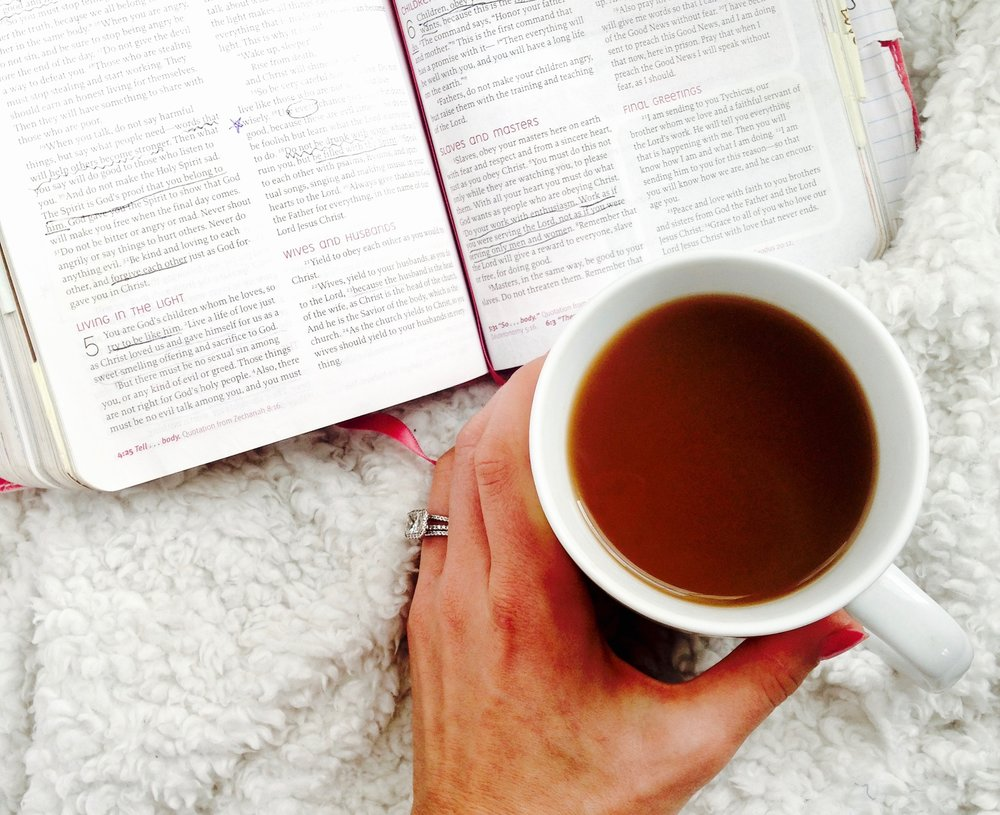 Morning coffee and devotional. Set your day up right with a morning with Jesus.
