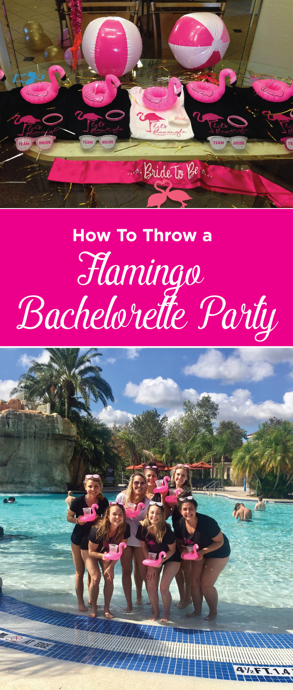 Let's Flamingle! How to throw a bachelorette Flamingo theme party in Florida!
