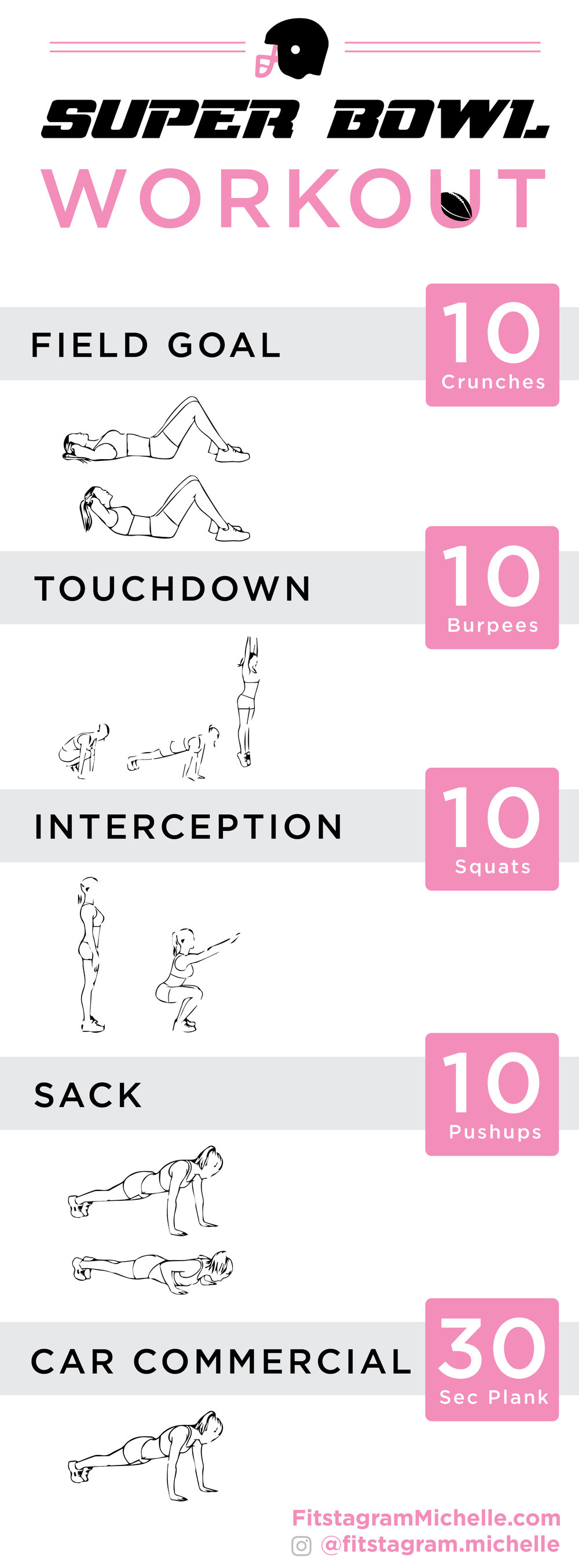Super Bowl 2018 plyometric workout. Game time workout. Exercises to do during the football game.