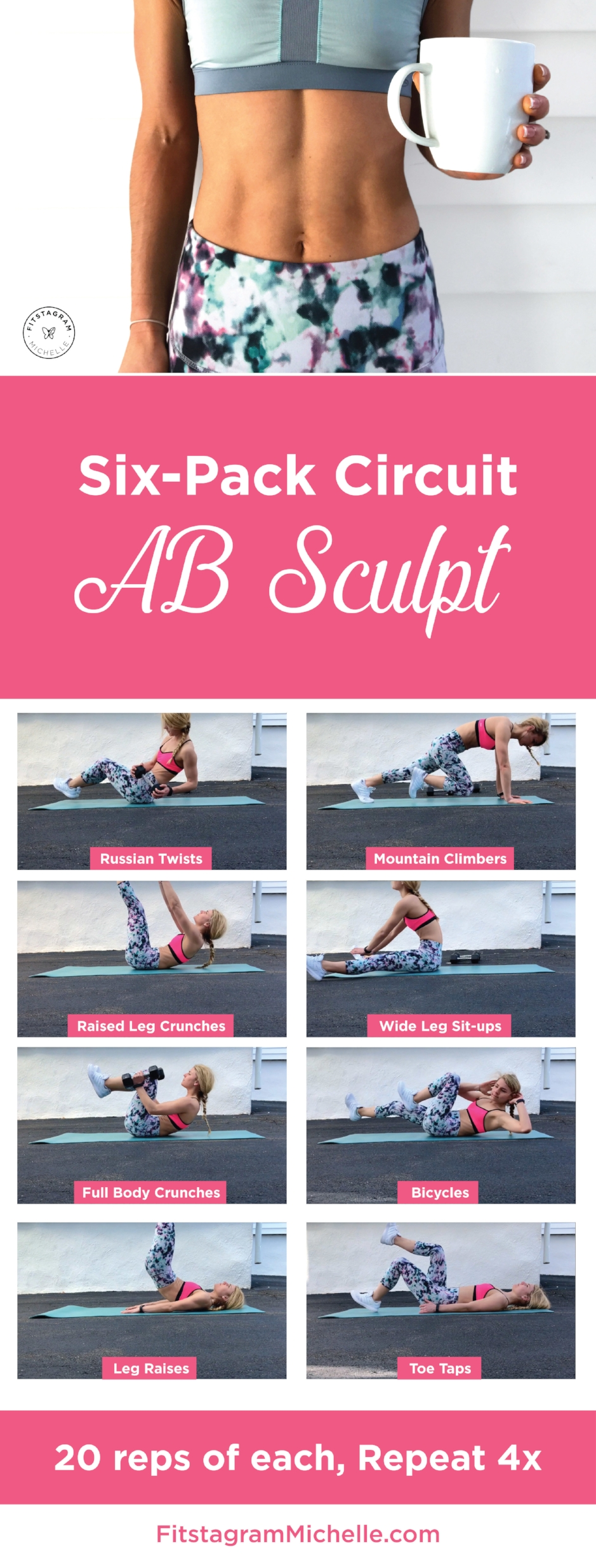 Six-pack Ab Sculpt Circuit. Try this workout with just 8 moves to get you tight and toned.
