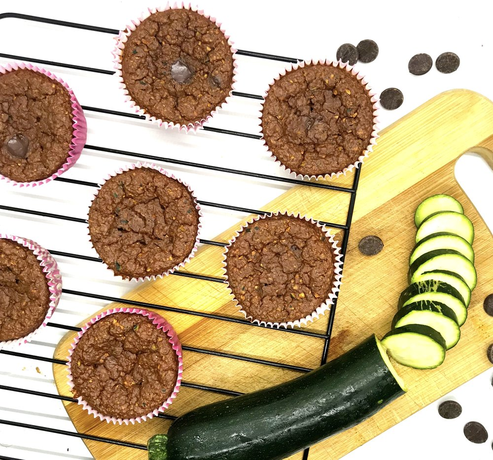 Dark Chocolate Zucchini Muffins. Packed with superfoods and antioxidants! No sugar, no oil, no butter, no flour. Muffins that are really good for you.