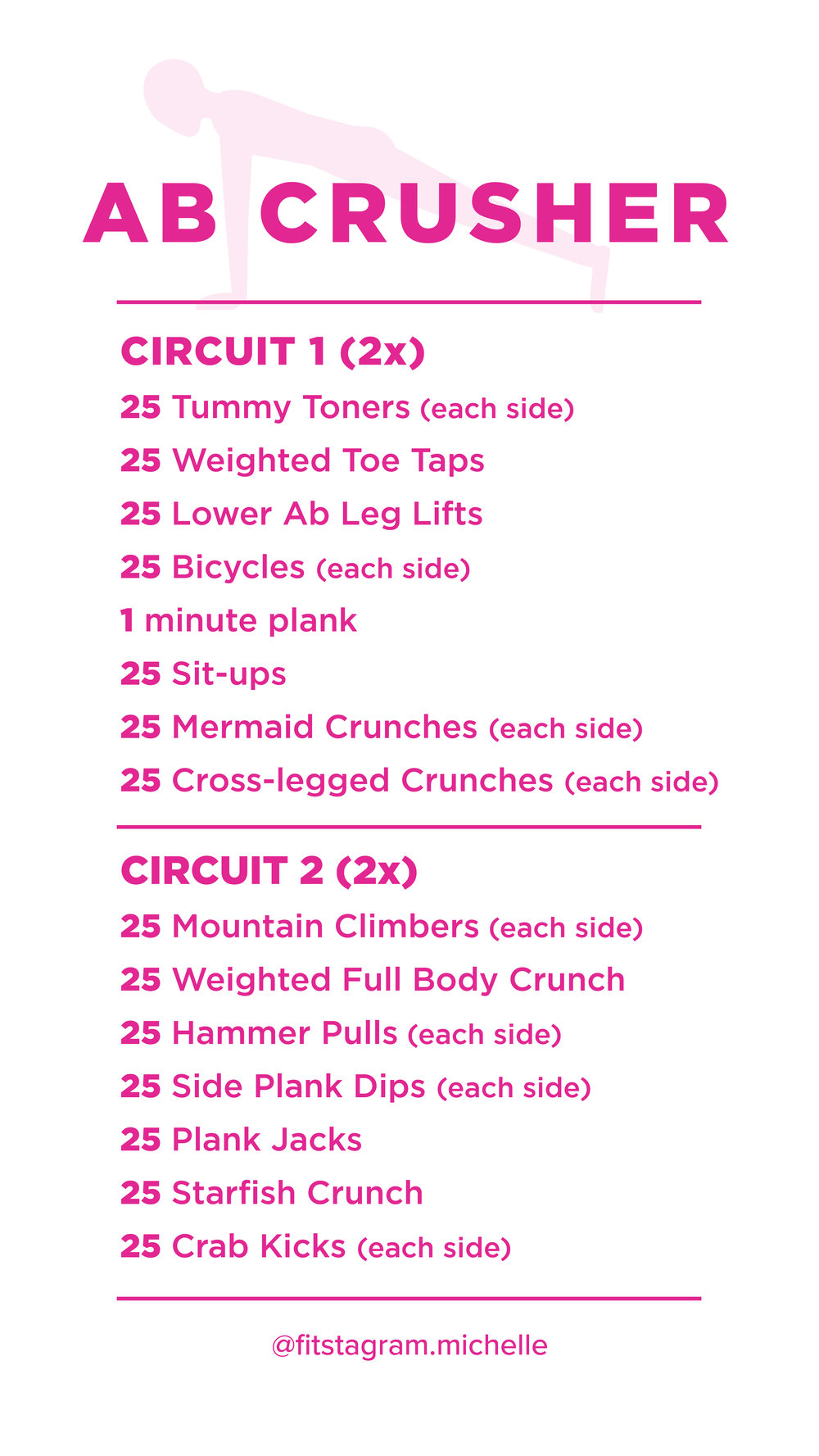 Ab Crusher Workout Guide for Instagram Story.