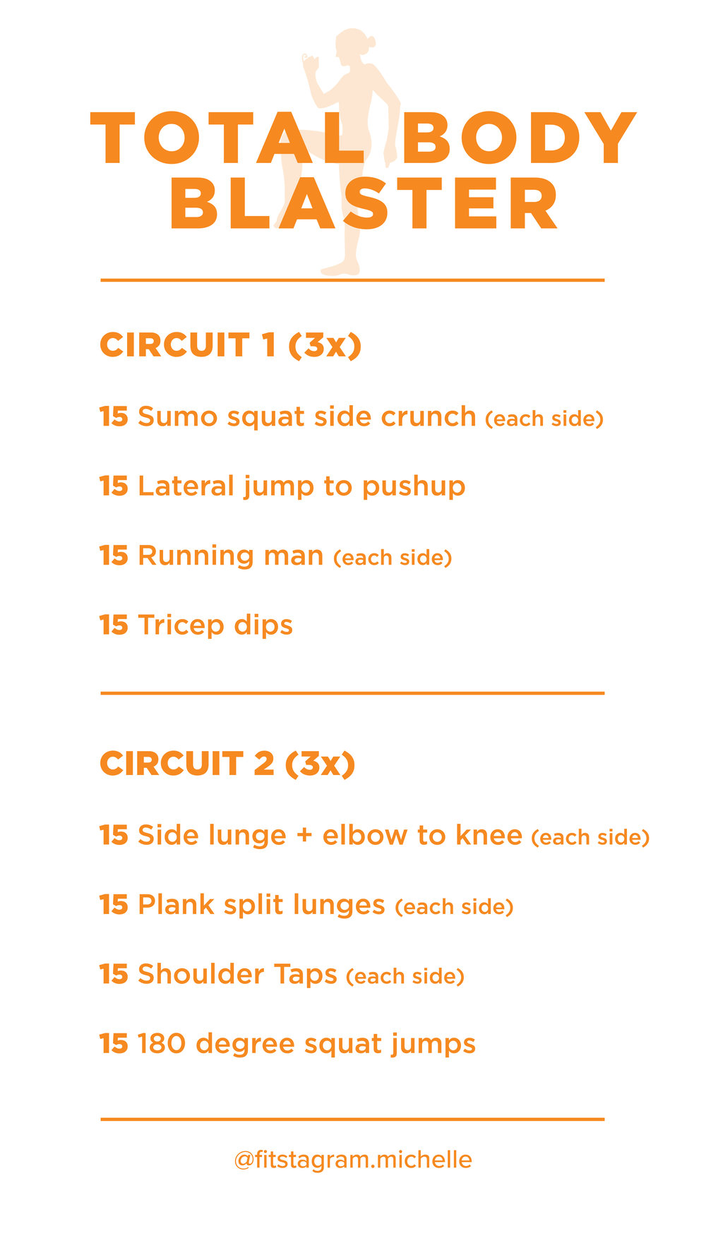 Total Body Blaster Instagram Story Image. Share this on your IG and get ready to sweat.
