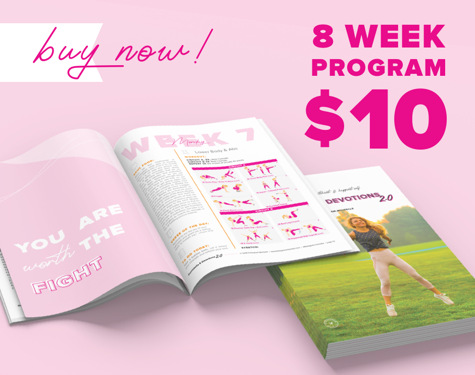 Buy Dumbbells & Devotions 2.0 Now! 60 workouts, 32 recipes, 56 devotionals, and more!
