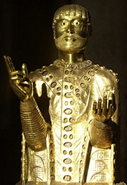 The reliquary bust of St. Baudime