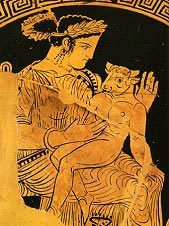 Pasiphae with her Minotaur son