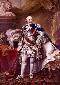 Duke Ferdinand of Brunswick Wolfenbuettel wearing the garder under his right knee