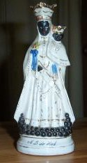 Resin variation on Our Lady with canon balls