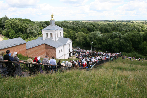 The hermitage on the day that the icon comes home for the summer.
