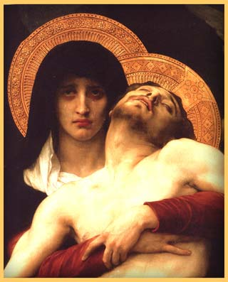"""Pieta"" — Detail of painting by William Adolphe Bouguereau"