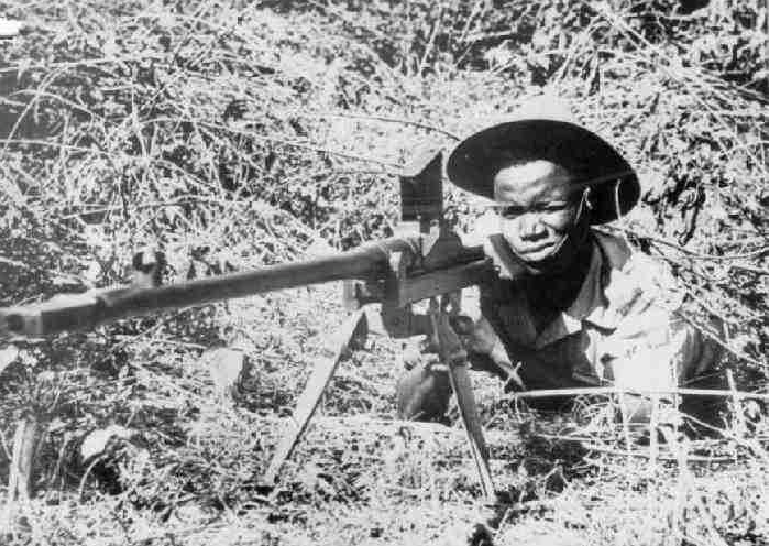 A Sierra Leonean soldier with the British army in Burma.  Image Source