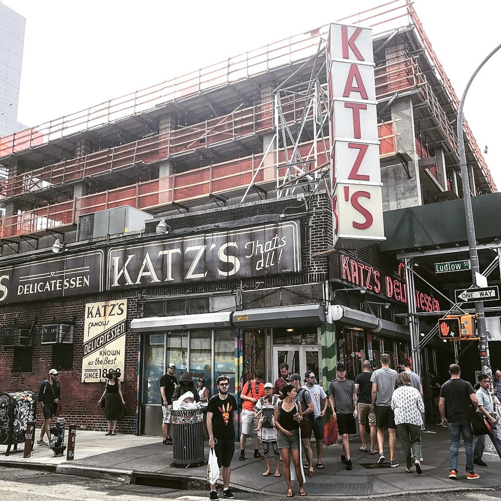 Katz's deli - Thanks to fellow Hunter College MFA alum and National Book Award-winning writer Phil Klay for suggesting I get my hands on a classic. It's hard to beat a pastrami on rye from Katz. It's been a New York institution since 1888. And for good reason. They're not simply doing something right...they do everything right. If you've never been...do it. Do it NOW. Pricier than your local bodega, but worth it. For the experience, the free pickles, and the superior sandwich. Put on your best pair of elastic waistband pants and enjoy.