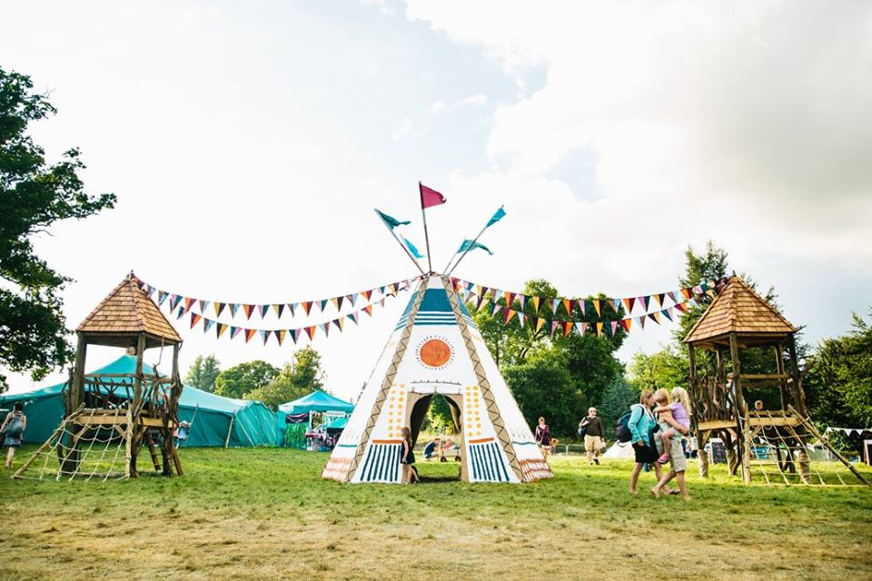 Teepee Entrance way at Wilderness Festival 2016                                                                                                                                                Photo: A and E Adventures