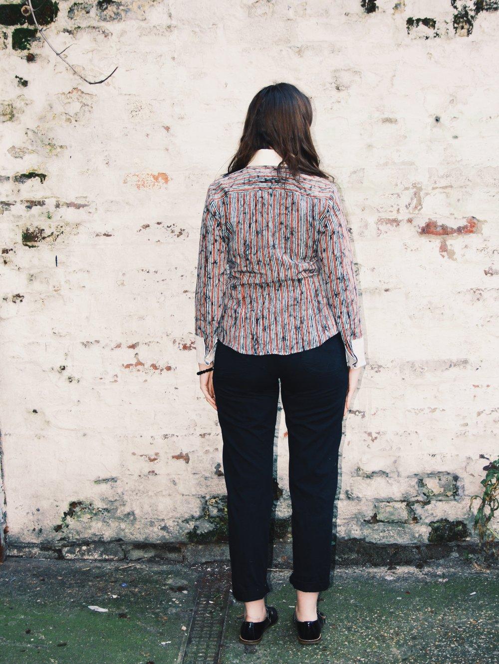 Vintage kimono fabric shirts
